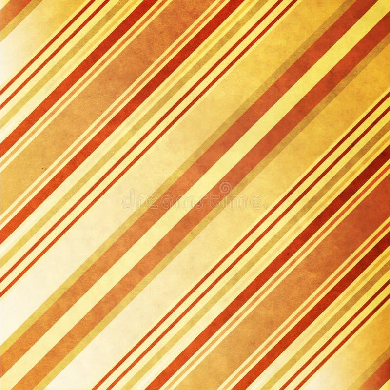 Vieux papier avec les bandes diagonales image libre de droits