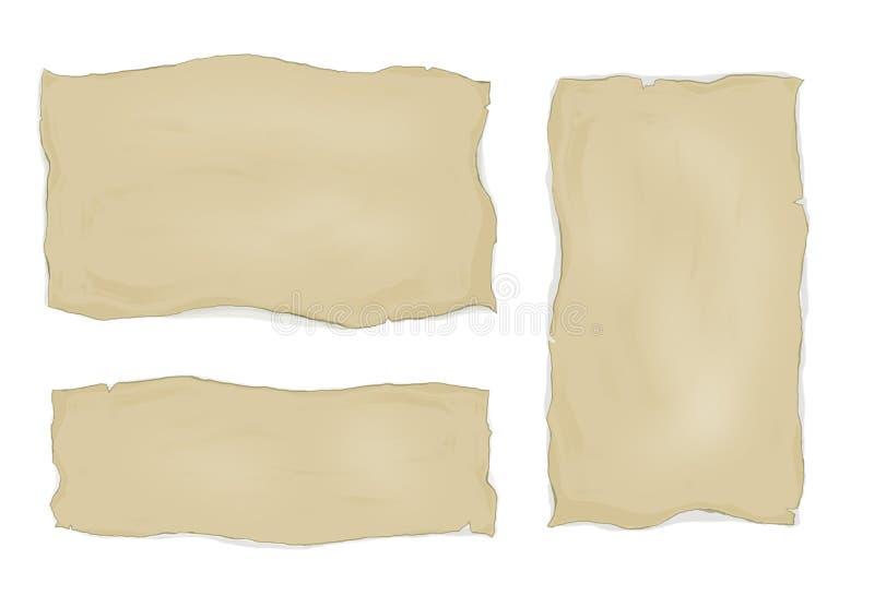 Vieux papier blanc illustration stock
