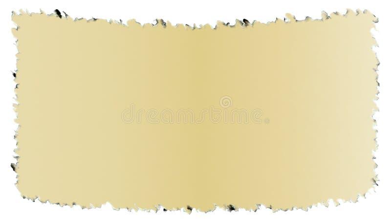 Vieux papier bordé foncé comme le papyrus a isolé illustration de vecteur
