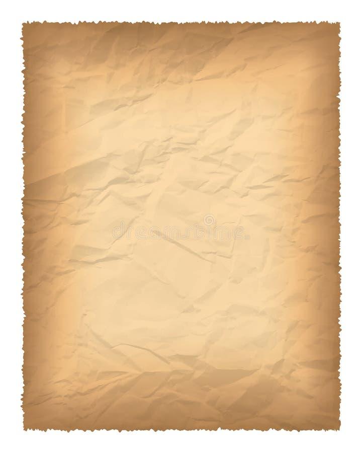 vieux papier brûlé de bords illustration de vecteur