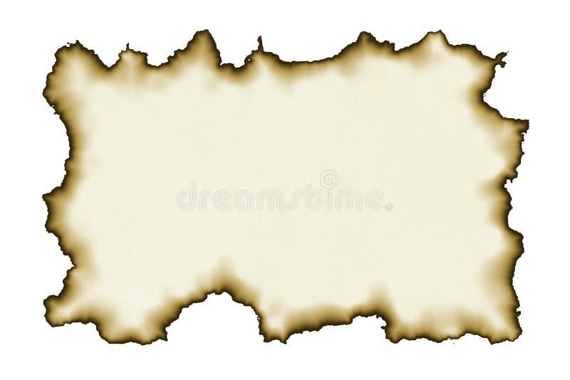 vieux papier brûlé de bords photo libre de droits
