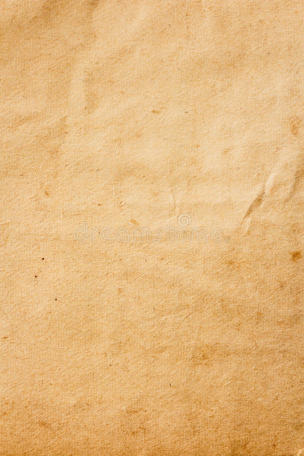 Vieux papier brun de couleur photographie stock