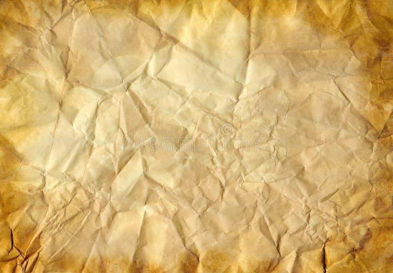 vieux papier chiffonné images stock
