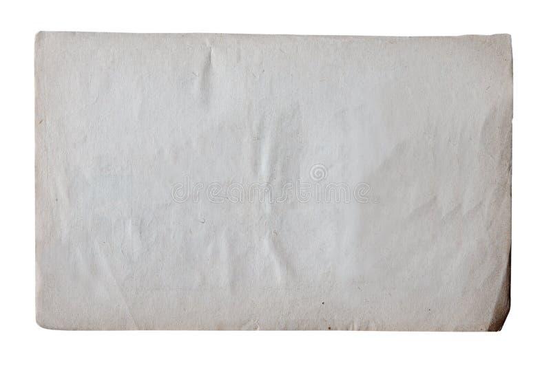 Vieux papier d'isolement sur le fond blanc photos stock