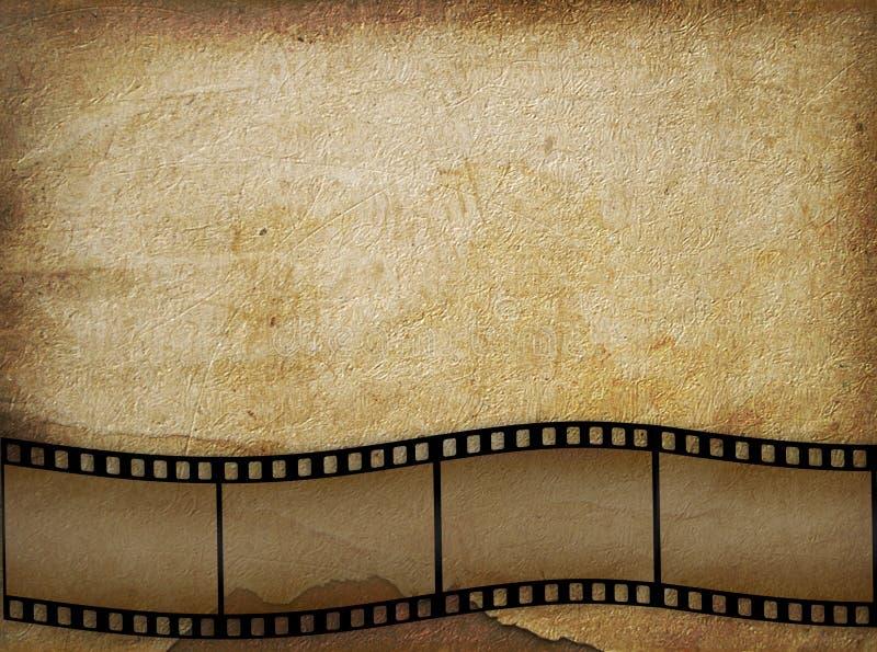 Vieux papier dans le type grunge avec le filmstrip illustration de vecteur