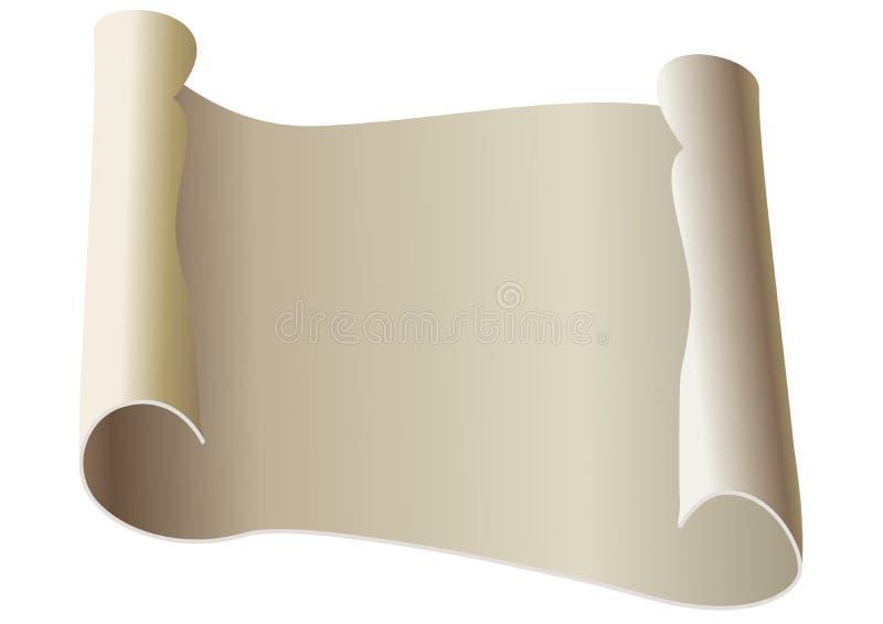 Vieux papier de défilement illustration de vecteur