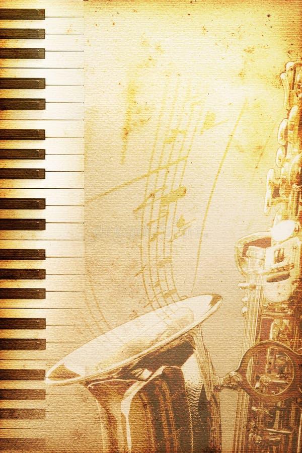 Vieux papier de jazz illustration de vecteur
