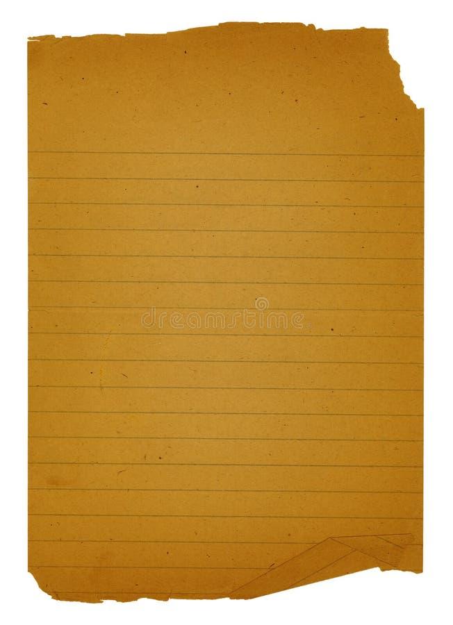 Vieux papier de note photographie stock