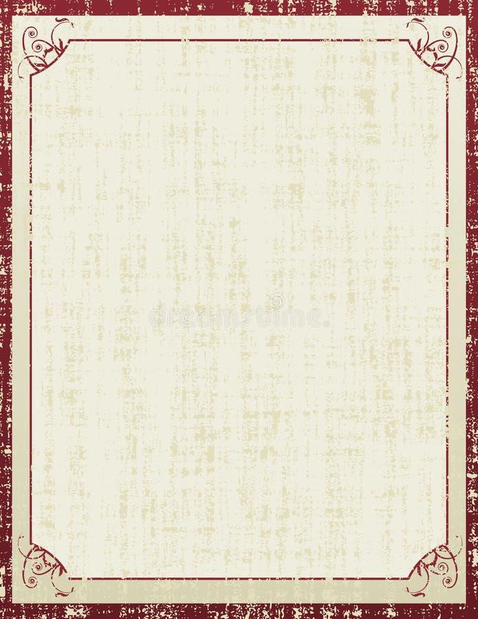 Vieux papier et rétro configuration de fleur est illustration libre de droits
