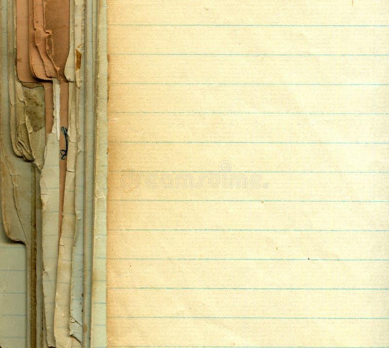 Vieux papier grunge avec des lignes photo libre de droits