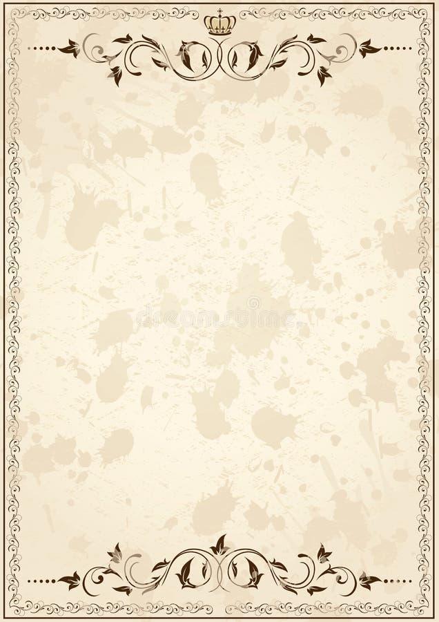 Vieux papier grunge avec la trame illustration de vecteur