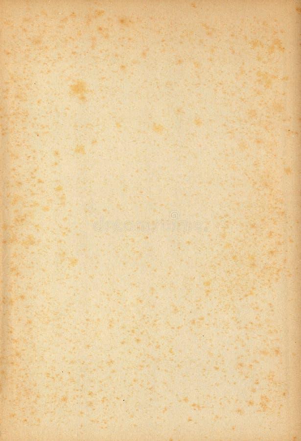 Vieux papier jauni avec des taches images libres de droits