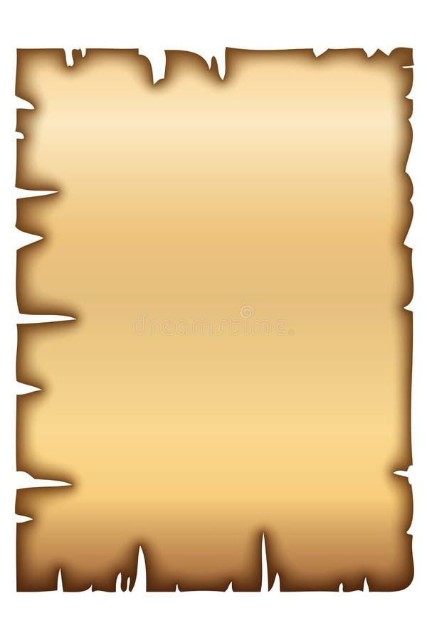 Vieux papier ou parchemin illustration libre de droits