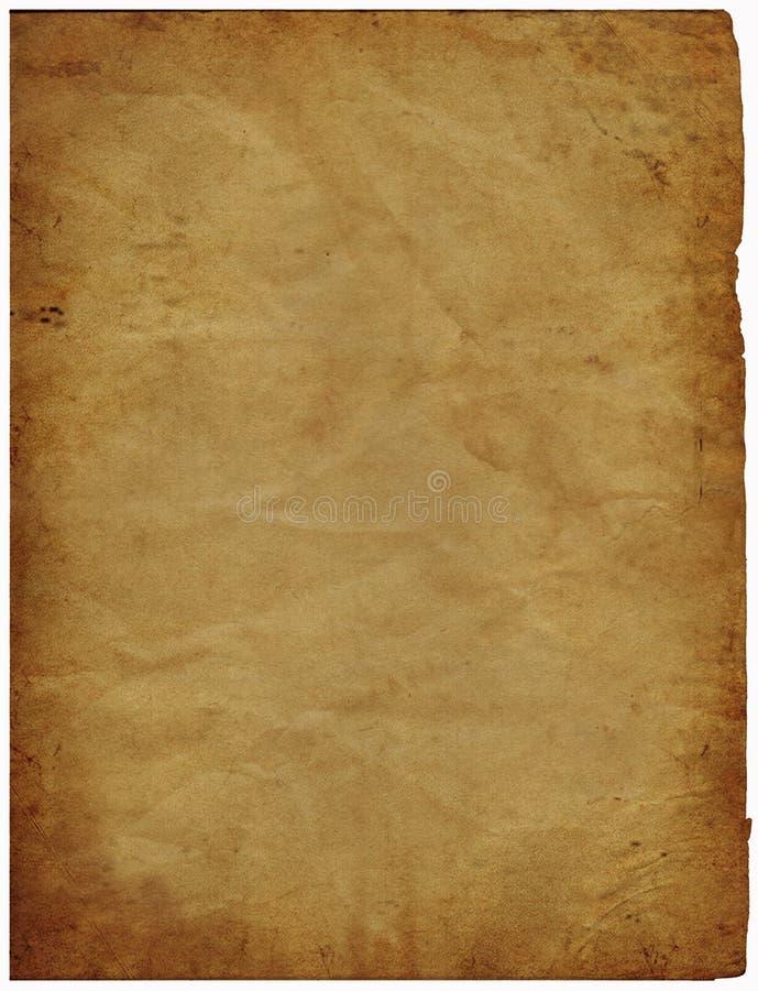 Vieux papier parcheminé illustration de vecteur