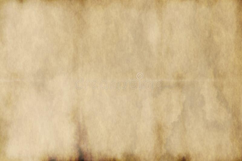 Vieux papier parcheminé usé illustration libre de droits