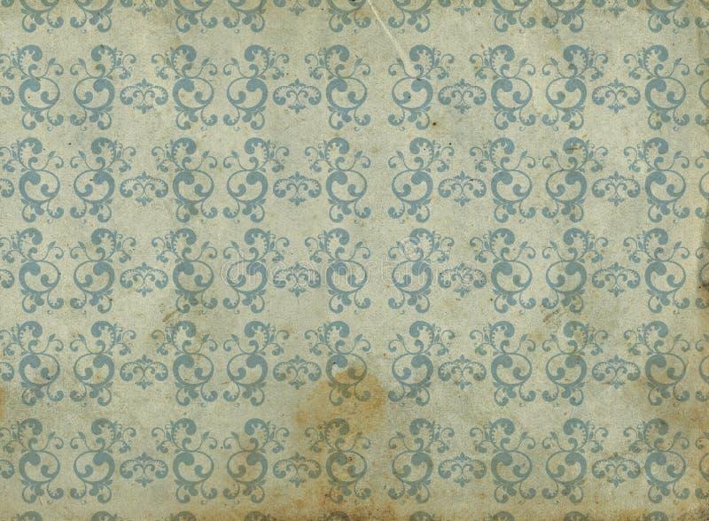Vieux papier peint illustration stock