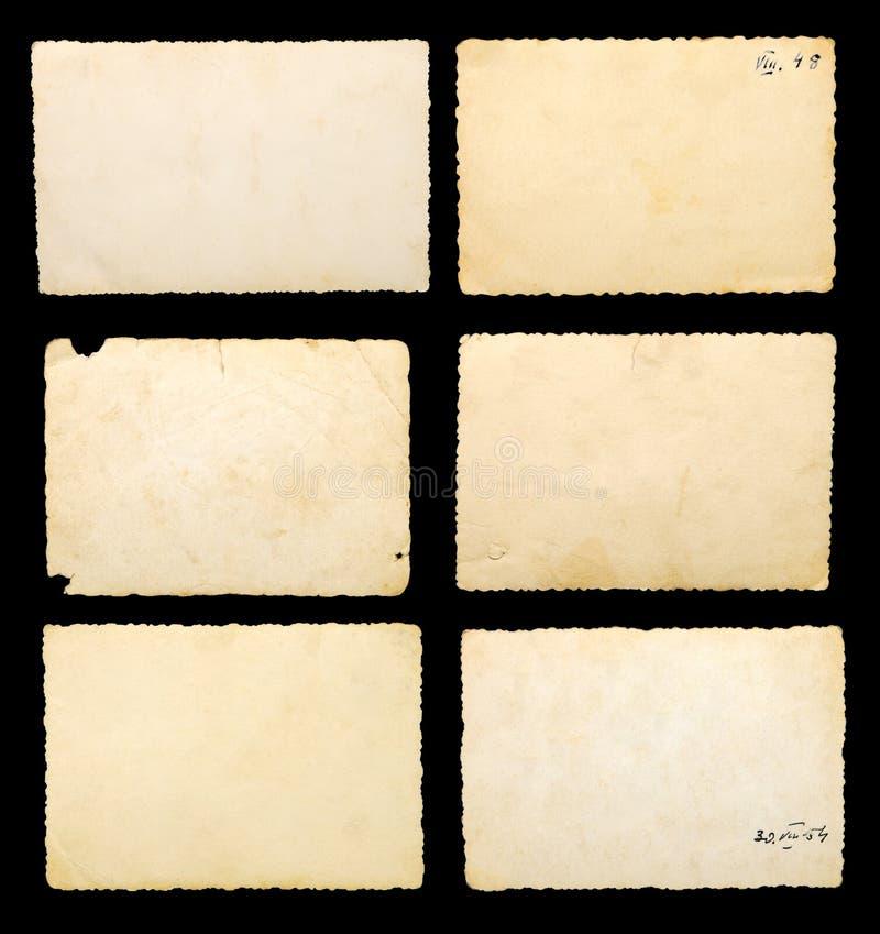 Vieux papier photographique blanc image stock