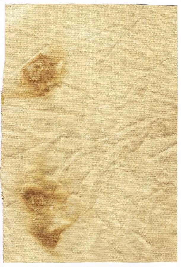 Vieux papier souillé images stock