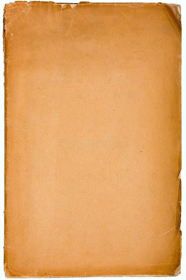 Vieux papier texturisé avec le bord décrépit. photo libre de droits