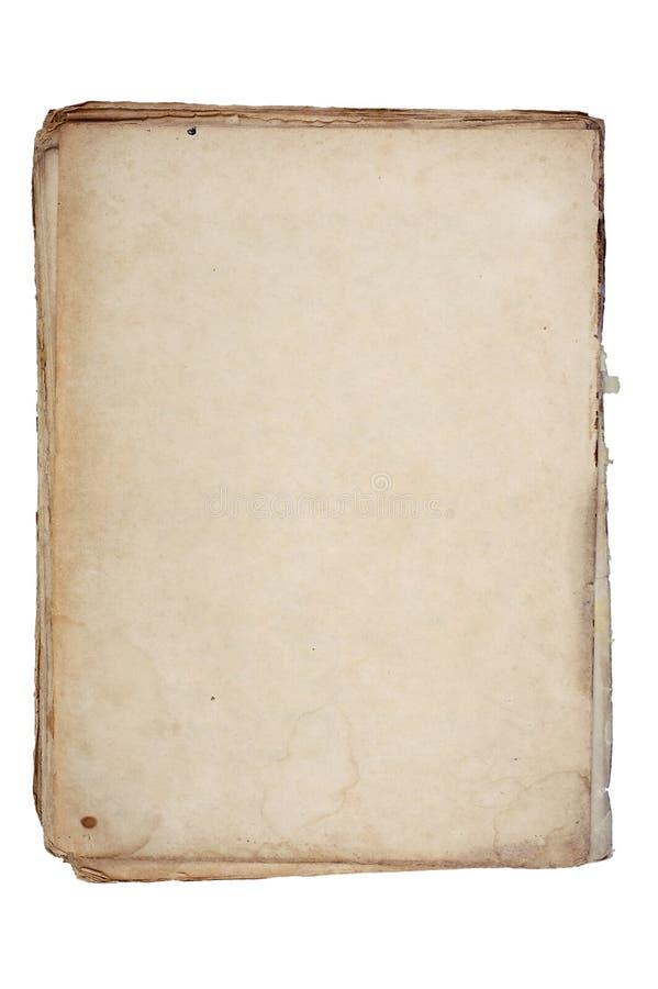 Vieux papier texturisé avec le bord décrépit. photos stock