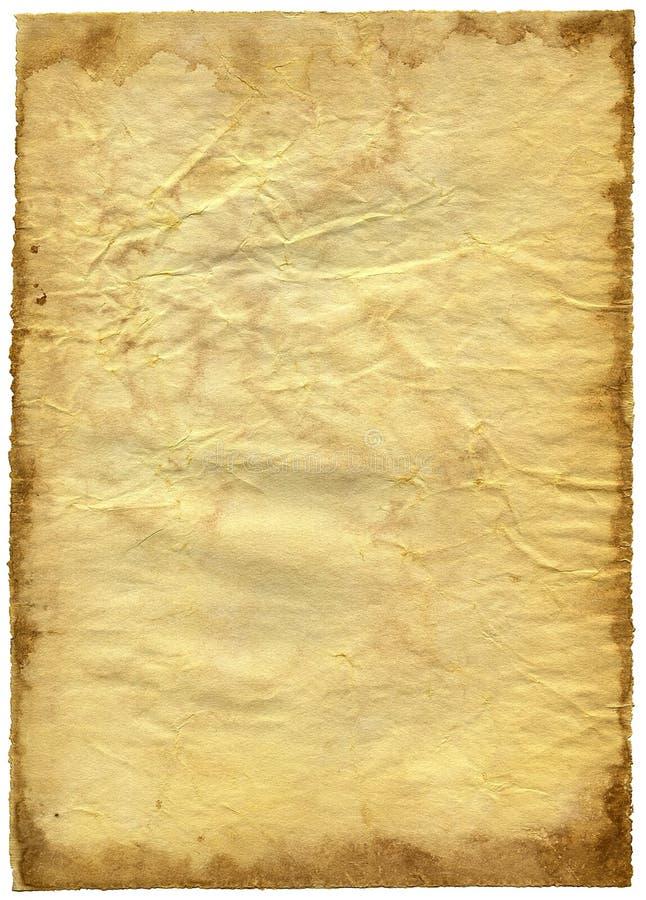 Vieux papier texturisé avec le bord décrépit. image libre de droits