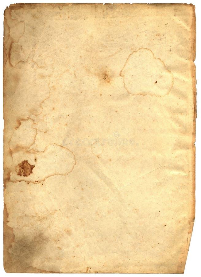 Vieux papier texturisé déchiré en lambeaux image stock