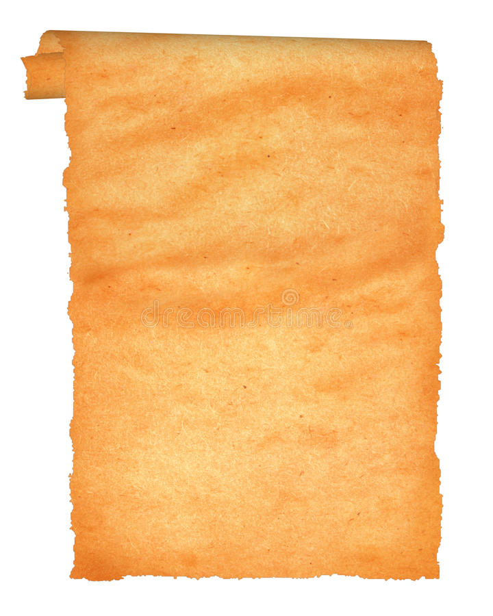 Vieux parchemin avec les bords déchiquetés. photographie stock libre de droits