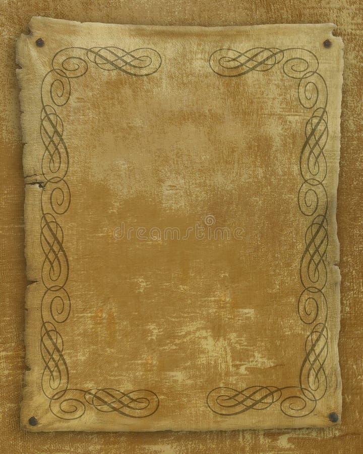Vieux parchemin de papier illustration stock