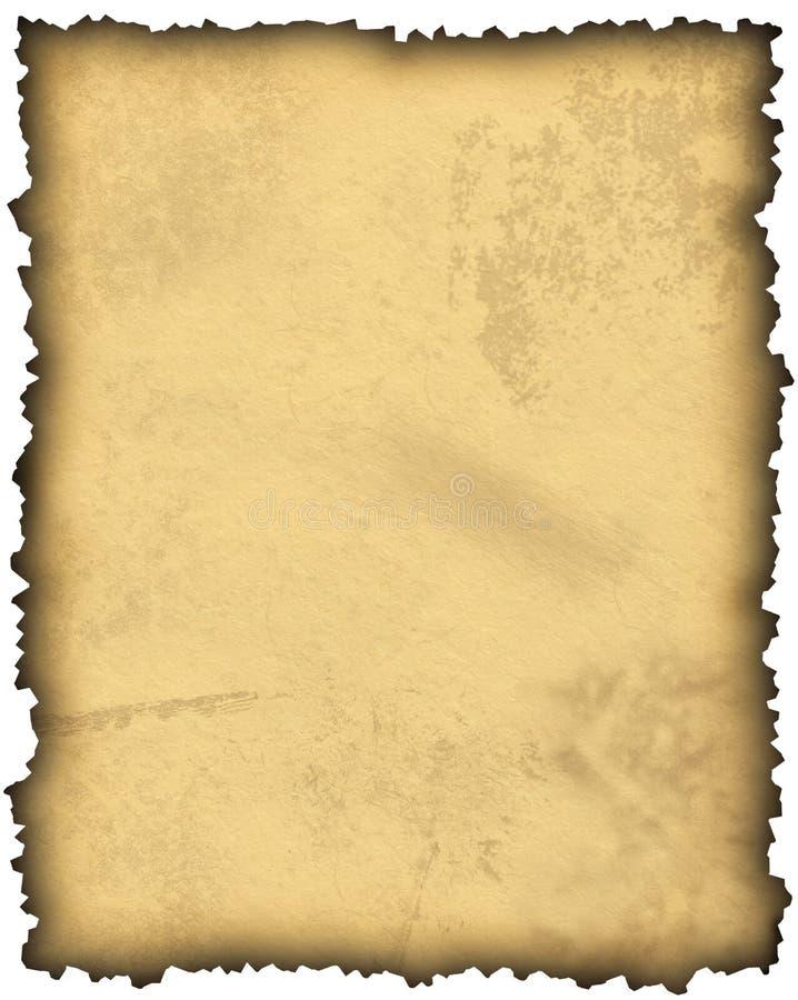vieux parchemin de papier blanc illustration de vecteur