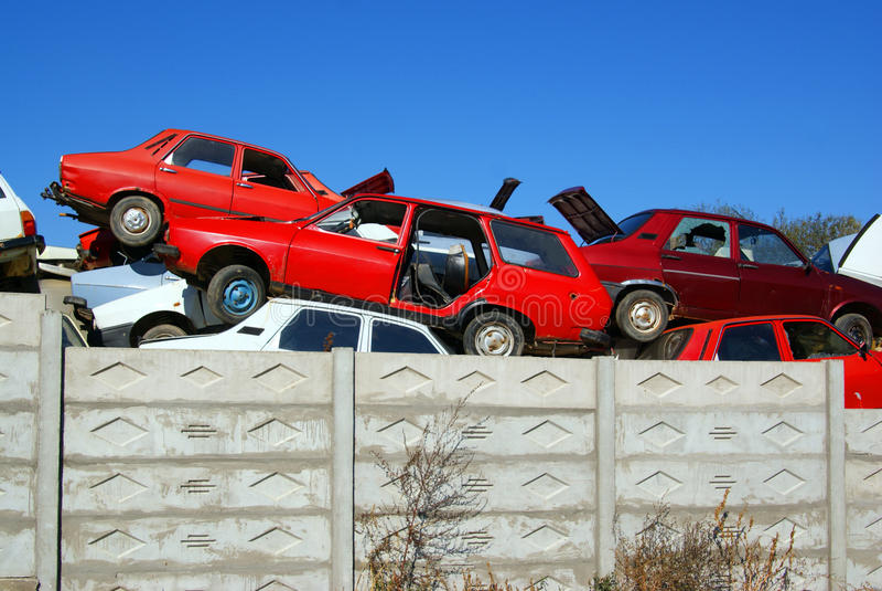 Vieux parking photo stock