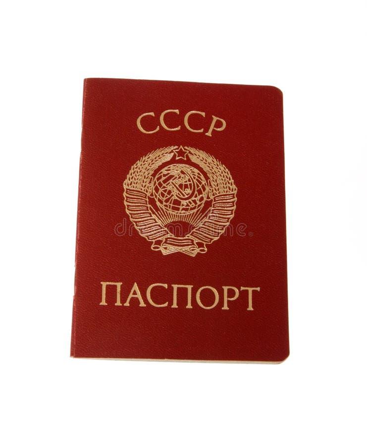 Vieux passeport de l'URSS photo libre de droits
