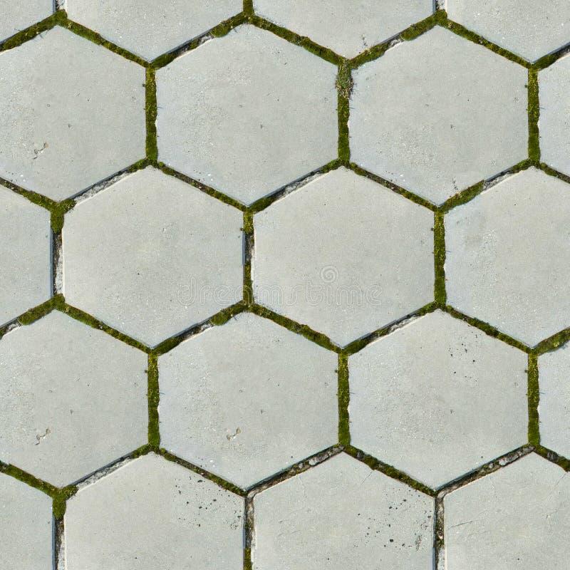 Vieux pavés hexagonaux. Texture sans joint. photographie stock libre de droits