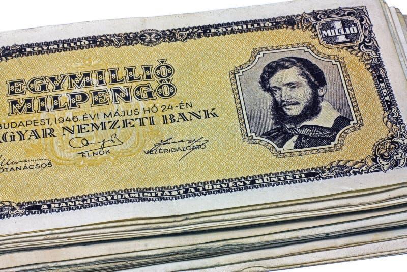 Vieux pengo du Hongrois un million photo stock