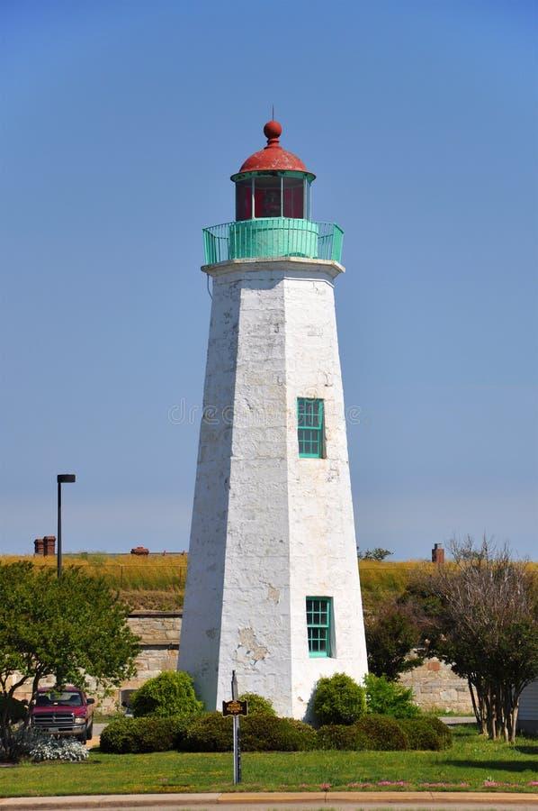 Vieux phare de confort de point, VA, Etats-Unis images stock