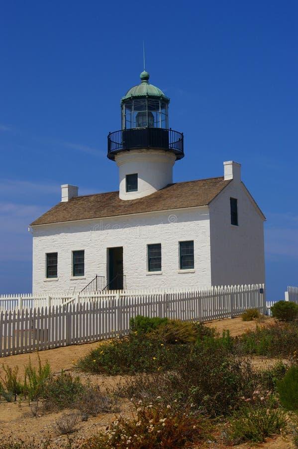 Vieux phare de Point Loma image stock