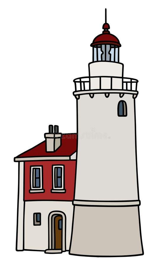 Vieux phare en pierre illustration de vecteur