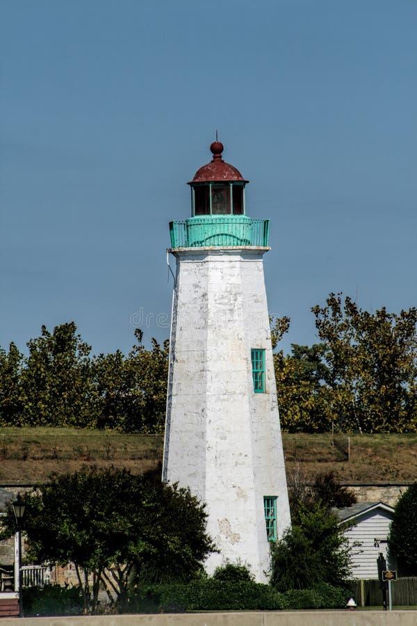 Vieux phare Hampton Virginia de confort de point images stock