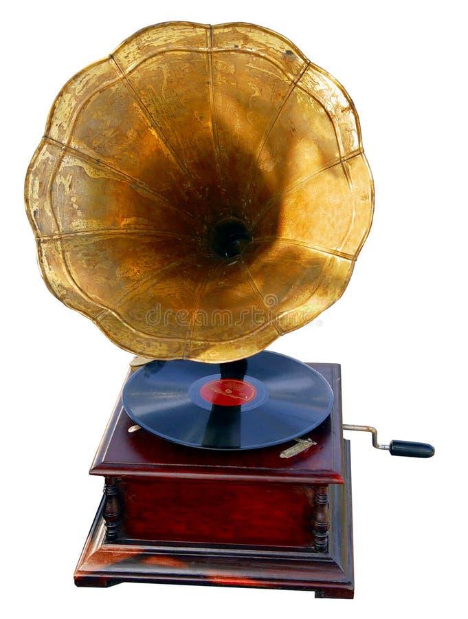 Vieux phonographe photo libre de droits