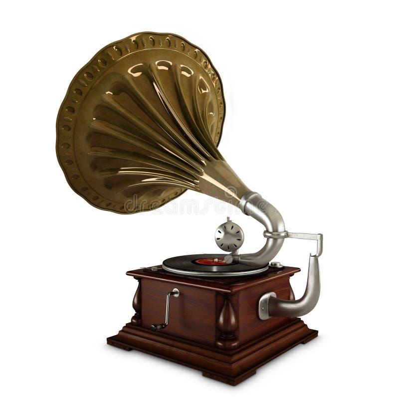 Vieux phonographe images libres de droits