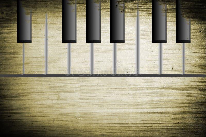 vieux piano illustration stock