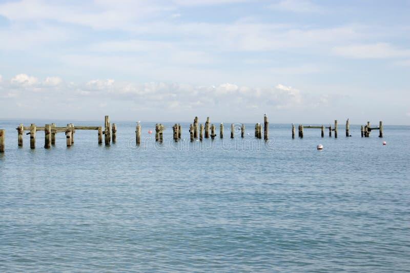 Vieux pilier, Swanage, Dorset photos libres de droits