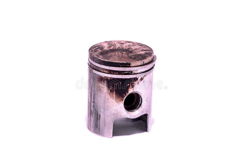 Vieux piston porté de moteur images stock