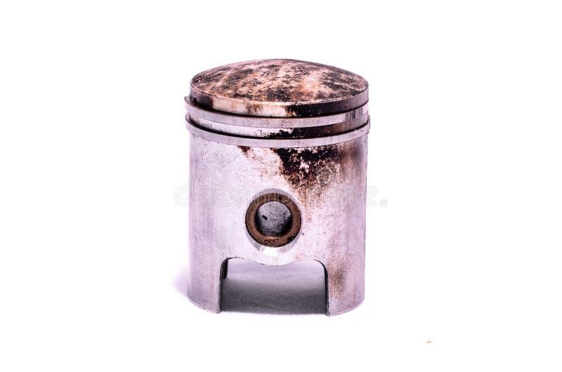 Vieux piston porté de moteur images libres de droits