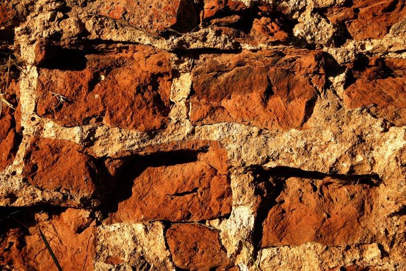 Vieux plan rapproché de mur de briques photo libre de droits