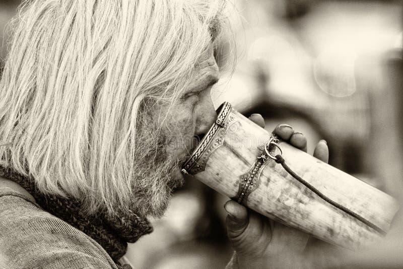 Vieux plan rapproché de Viking photographie stock
