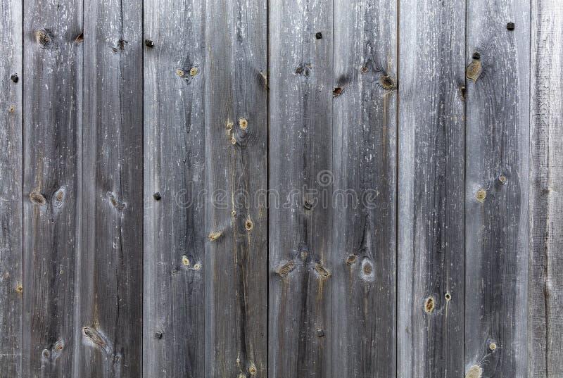 Vieux plan rapproché en bois gris superficiel par les agents de barrière photos stock