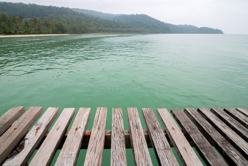 Vieux plancher de pont en bois images libres de droits