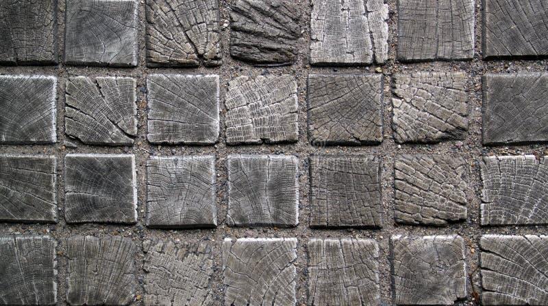 Vieux plancher de tuiles carré en bois photographie stock