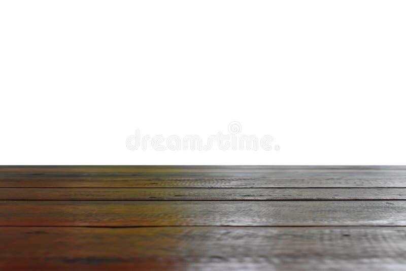 Vieux plancher en bois séparé du fond blanc photographie stock libre de droits