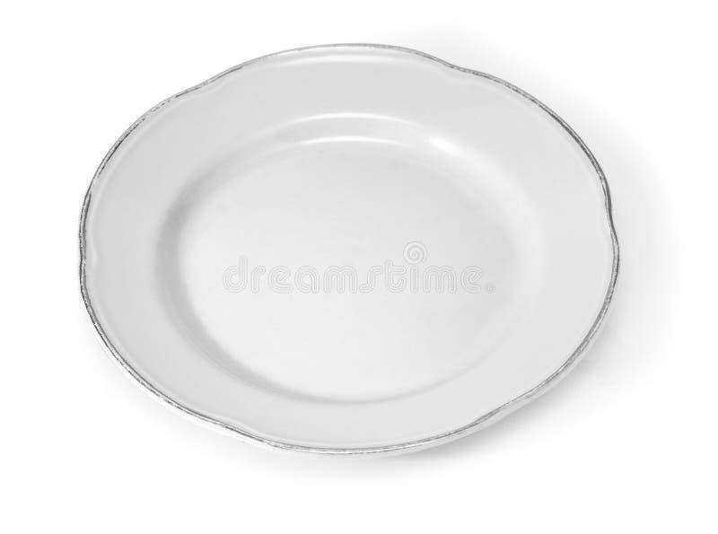 Vieux plat blanc photographie stock libre de droits